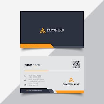 Modello professionale per biglietto da visita moderno arancione elegante