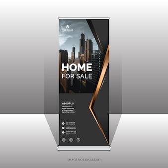 Banner roll up professionale elegante e modello di business