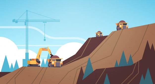 Attrezzature professionali che lavorano alla produzione di miniera di carbone
