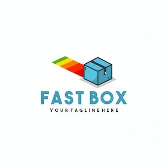 Design professionale del logo della scatola veloce
