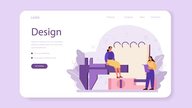 Banner web o pagina di destinazione di interior designer professionale