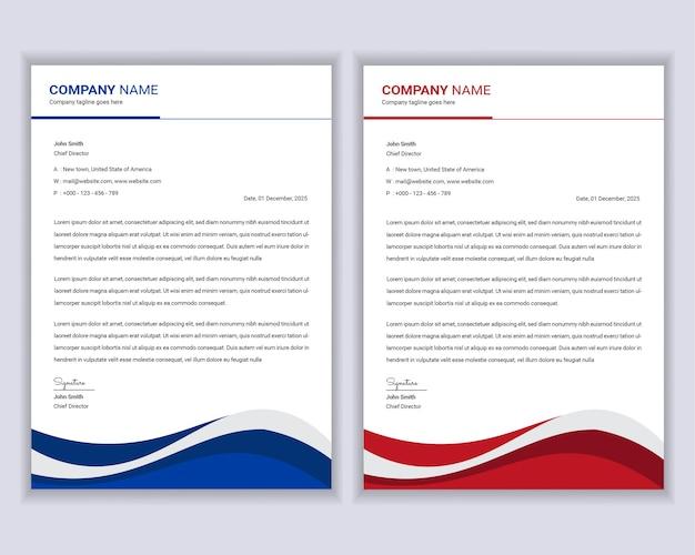Set di modelli di carta intestata professionale moderna aziendale.