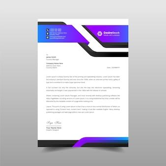 Modello di carta intestata professionale moderna aziendale