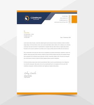 Modello di carta intestata aziendale moderna e professionale