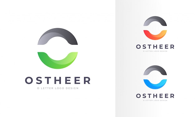 Modello di progettazione logo moderno professionale arrotondato o lettera
