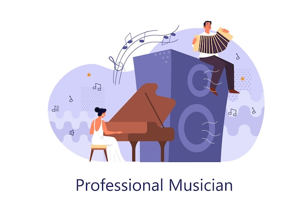 Concetto di musicista professionista