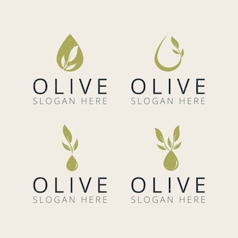 Modello di progettazione logo oliva professionale