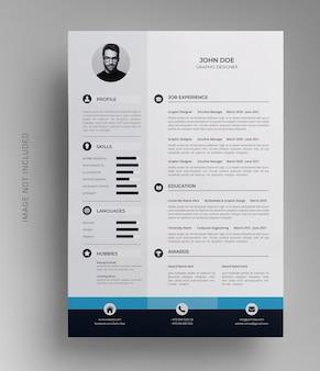 Modello di cv professionale per curriculum di una pagina
