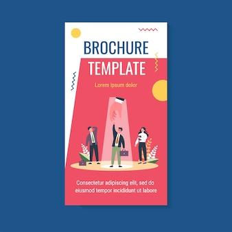 Modello di brochure di selezione professionale