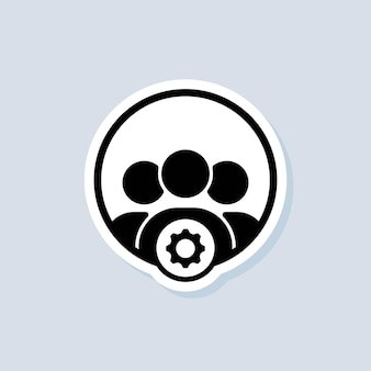 Servizi professionali con il segno dell'icona di impostazione. imposta, gestisci, amministra. icone delle impostazioni dell'ingranaggio. vettore su sfondo isolato. env 10. Vettore Premium