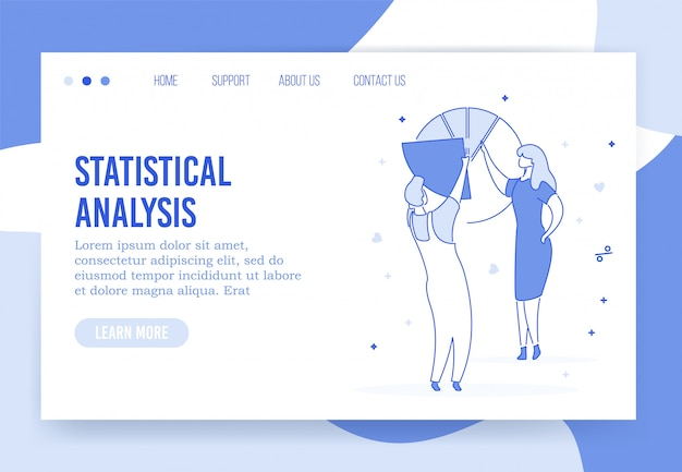 Pagina di destinazione di analisi statistiche professionali