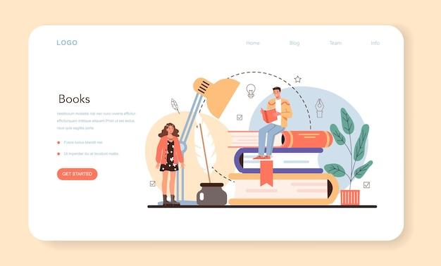 Banner web o pagina di destinazione per scrittore professionista