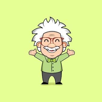 Carattere mascotte del professore genius