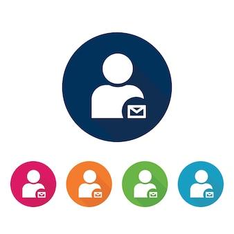 Profilo con icona della posta.