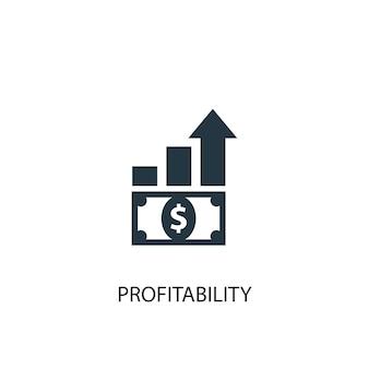 Icona di redditività. illustrazione semplice dell'elemento. disegno di simbolo del concetto di redditività. può essere utilizzato per web e mobile.