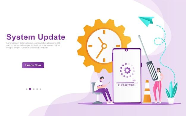 Il programmatore garantisce il tempo stimato per l'illustrazione dell'aggiornamento del sistema