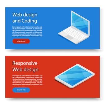 Set di banner pubblicitari di programmazione