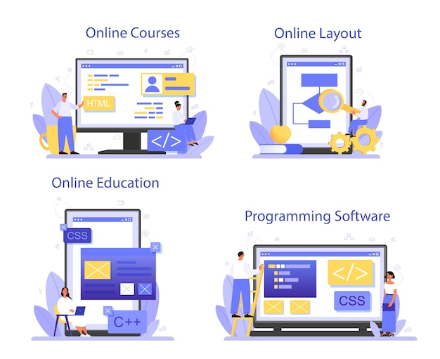 Programmazione del servizio online o set di piattaforme