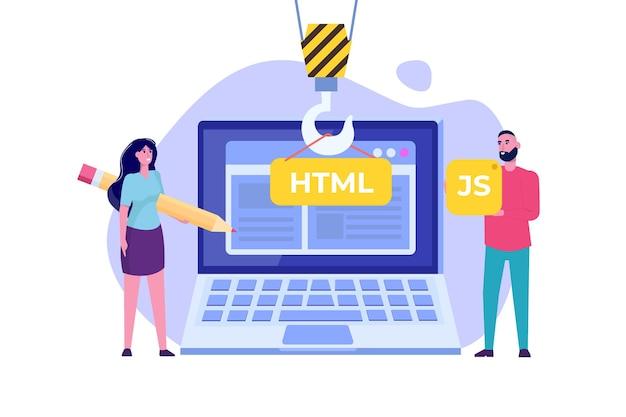 Software di programmazione o app, concetto di sviluppo web e front end.