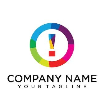 Modello di progettazione del logo della lettera proibita. segno creativo foderato colorato