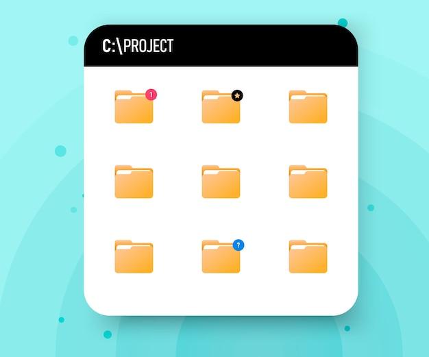 Cartella del progetto sul disco rigido.