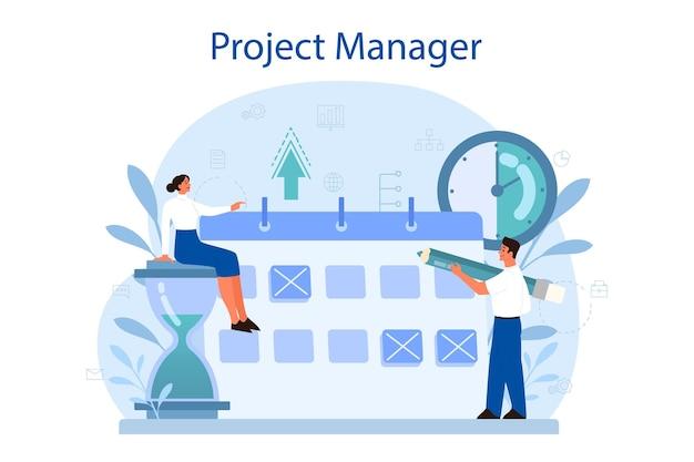 Illustrazione di concetto di gestione del progetto