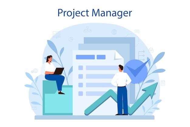 Concetto di gestione del progetto.