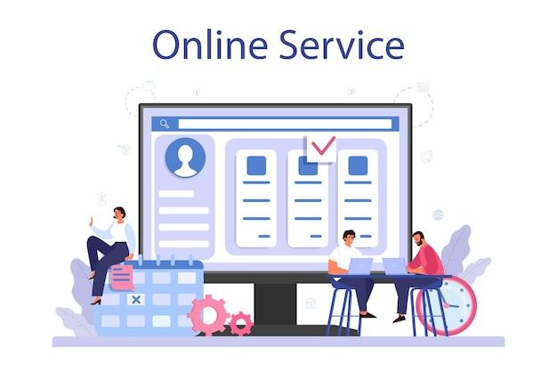 Avvio del progetto servizio online o piattaforma