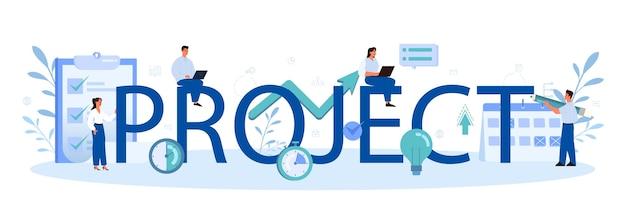 Testo tipografico e illustrazione del progetto.