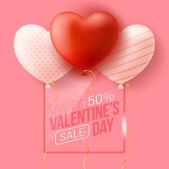 Banner web promozionale per san valentino.
