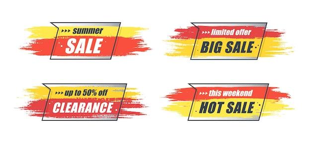 Banner originale di promozione, sfondo di vendita, cartellino del prezzo. illustrazione vettoriale