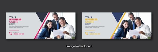 Agenzia di affari aziendali promozionali social media post pagina di copertina di facebook timeline online web