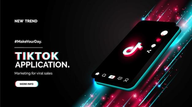Design promozionale per il tuo nuovo account tiktok