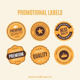 Etichette sporchi promozionali