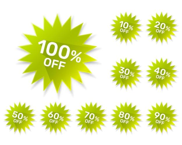 Adesivi rotondi promozionali su sfondo bianco, set pack. illustrazione vettoriale