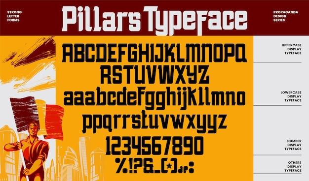 Carattere e numero di lettere dell'alfabeto di propaganda