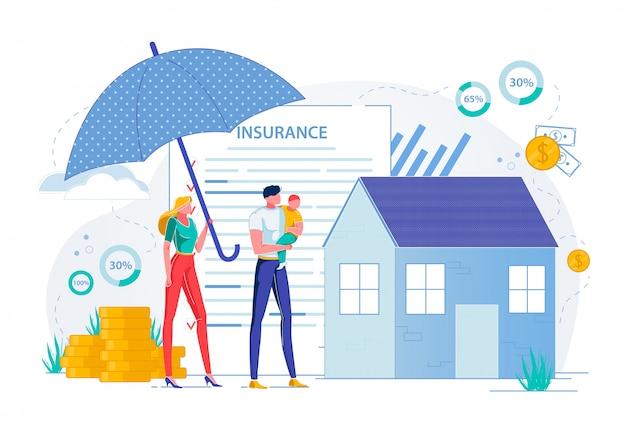 Assicurazione di proprietà e protezione del bene immobile.
