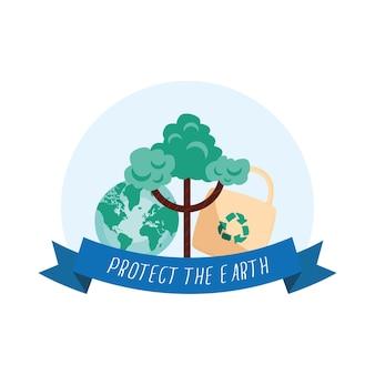 Proteggi la cornice della campagna terrestre earth