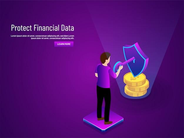 Proteggi il concetto di dati finanziari.