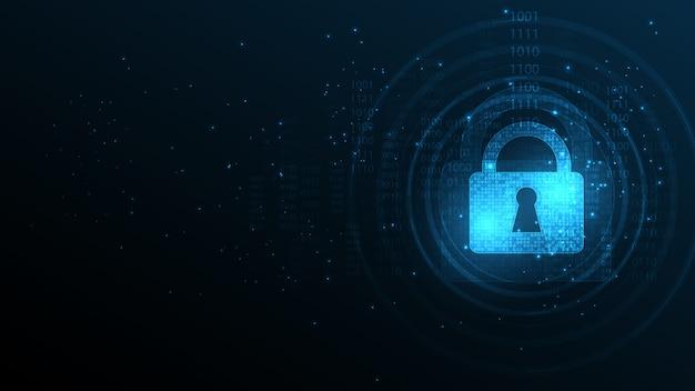 Protetto concetto di sicurezza scudo guardia sicurezza cyber digitale sfondo tecnologia astratta