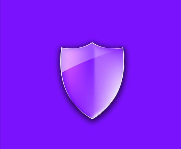 Scudo di protezione elemento di disegno vettoriale lucido.