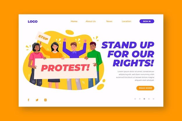Colpo di protesta - landing page