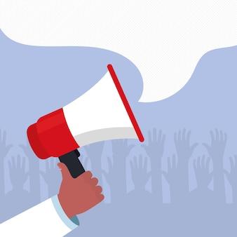 Protestare il design dell'illustrazione