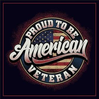 Orgoglioso di essere veterano americano