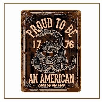 Orgoglioso di essere un americano