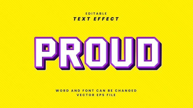 Orgoglioso effetto di testo