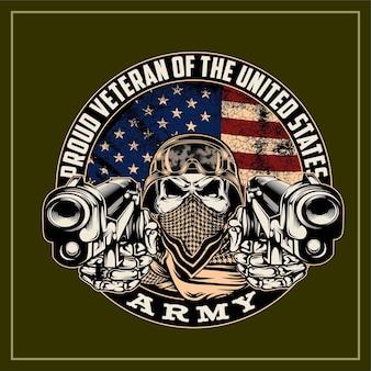 Veterano orgoglioso dell'esercito degli stati uniti