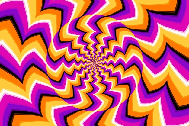 Tema psichedelico di illusione ottica