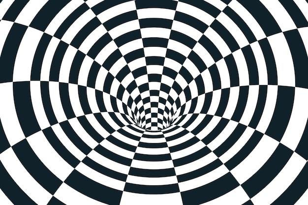 Concetto psichedelico di illusione ottica