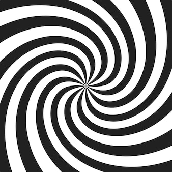 Spirale psichedelica con raggi grigi radiali. sfondo retrò ritorto di turbinio. illustrazione di effetto comico.